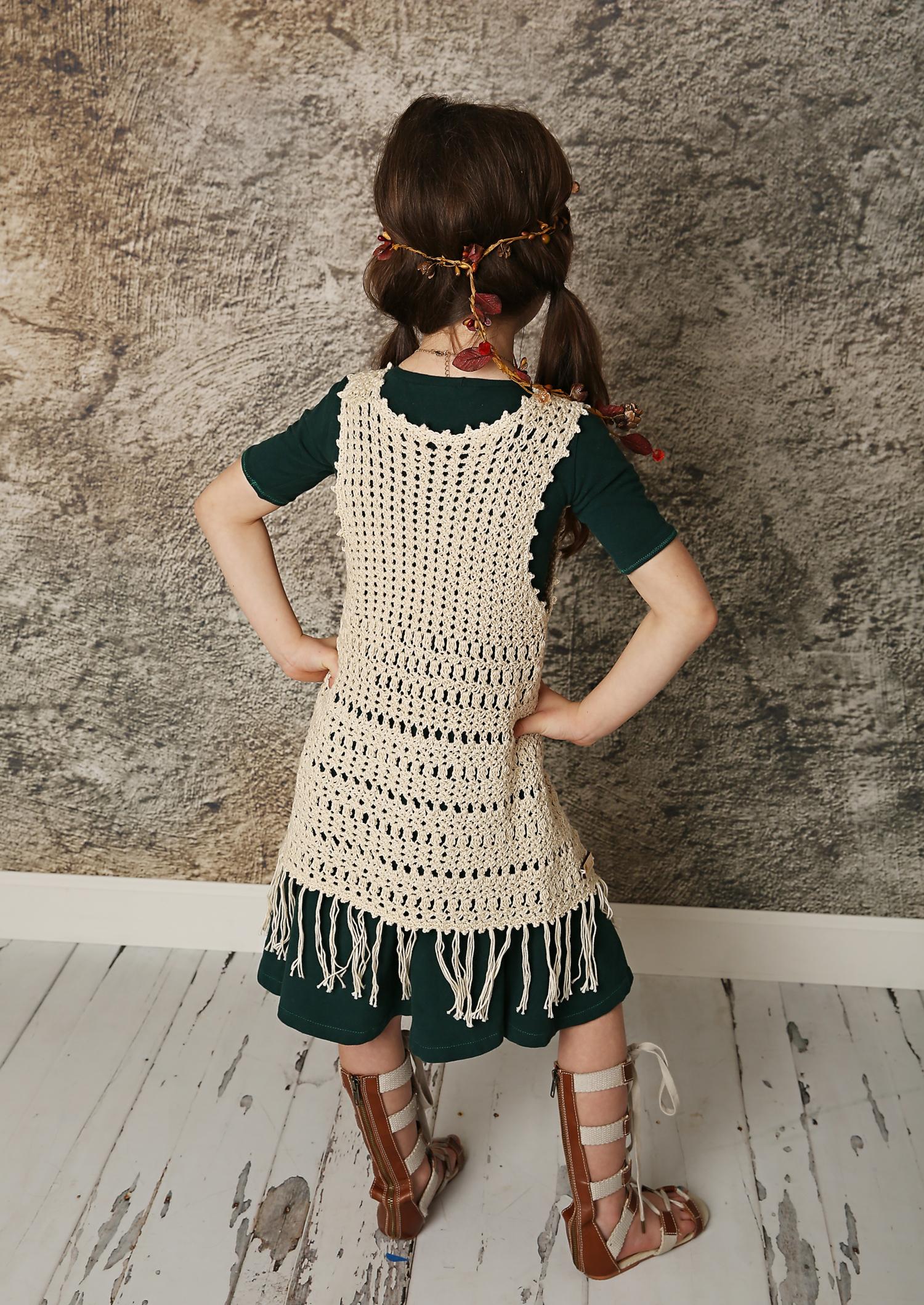 Boho Fringe Vest 600 Crochet Garden Boutique Quality Patterns
