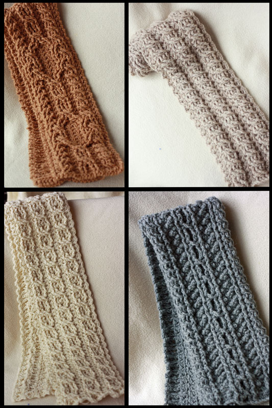 Canyon River Cable Scarves