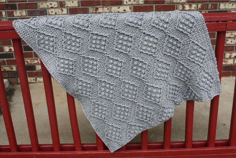Diamond Slate Afghan