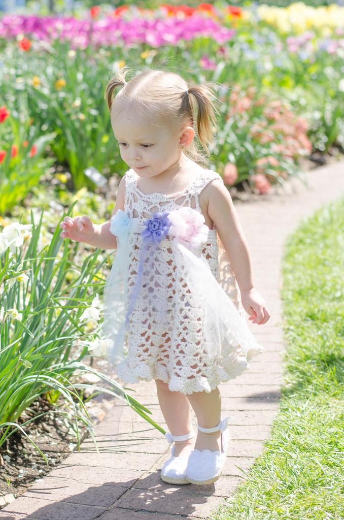 Crochet Pattern For Baby Summer Dress : Flower Dust - USD6.99 : Crochet Garden!, Boutique Quality ...