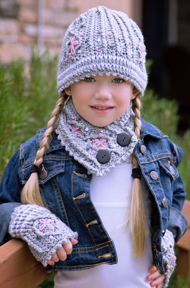 Graystone Kids - Cable Hat, Neck Warmer And Fingerless Mittens S