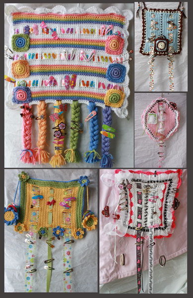 Hair Accessory Organizer Crochet Patterns