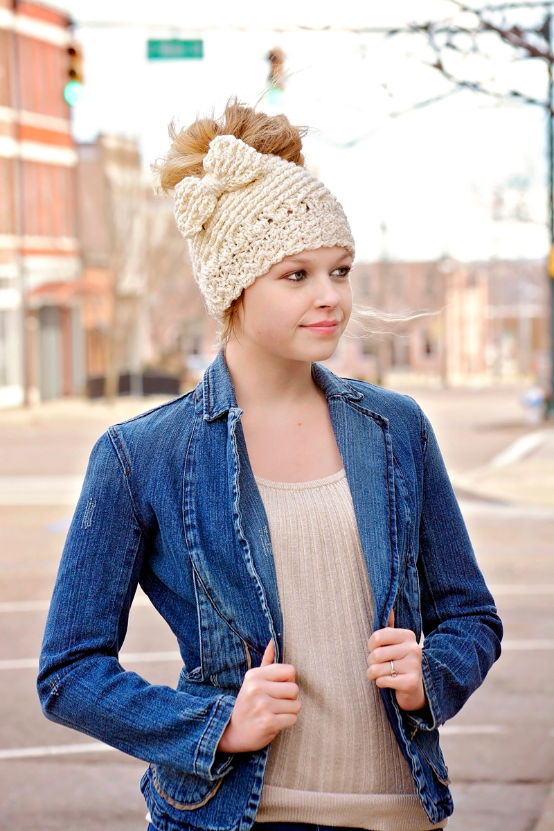 Katlyn Hat: Messy Bun Or Regular Hat Option Pattern