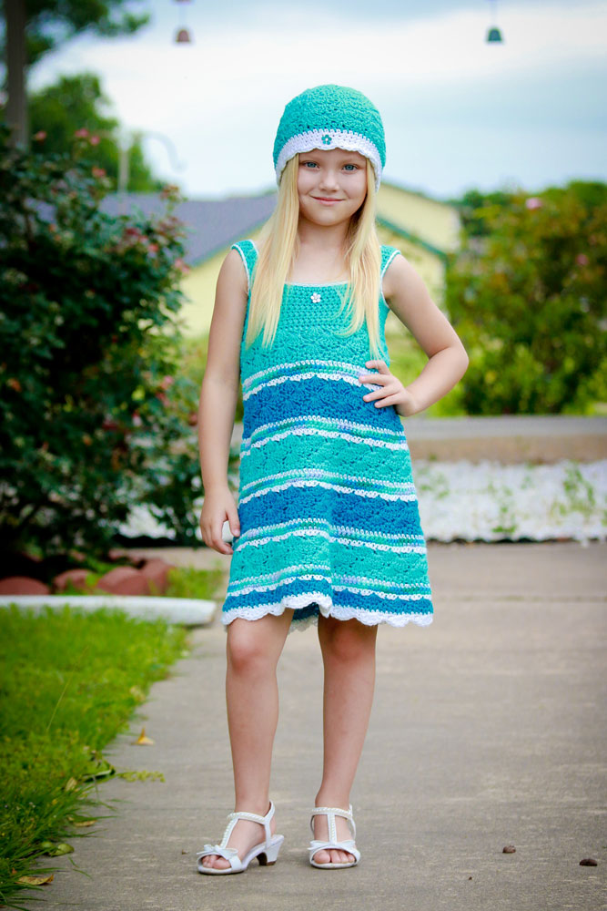 Seaside Girl Crocheted Sundress