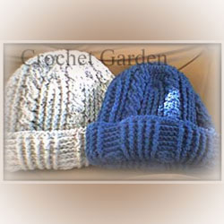 Thick Warm Crocheted Winter Hat